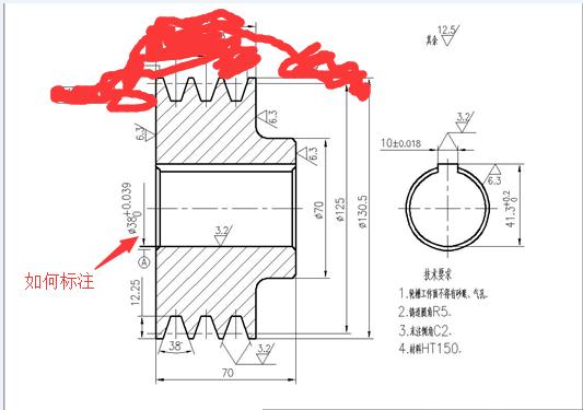 CAD软件技术v工程交流区工程图中标注在cad斜角图片