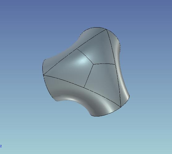 CAD软件技术学习交流区公布试题练习题--三通华东区cad大赛曲面图片