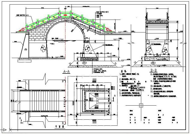 装备区一套古典拱桥的结构设计和大家分享一套古典拱桥的结构设计
