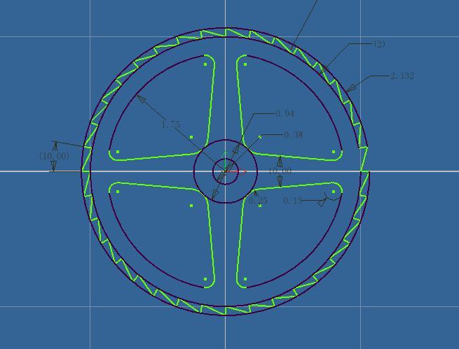 CAD软件技术学习交流区上班了,先来个图练练中望cad2004图片