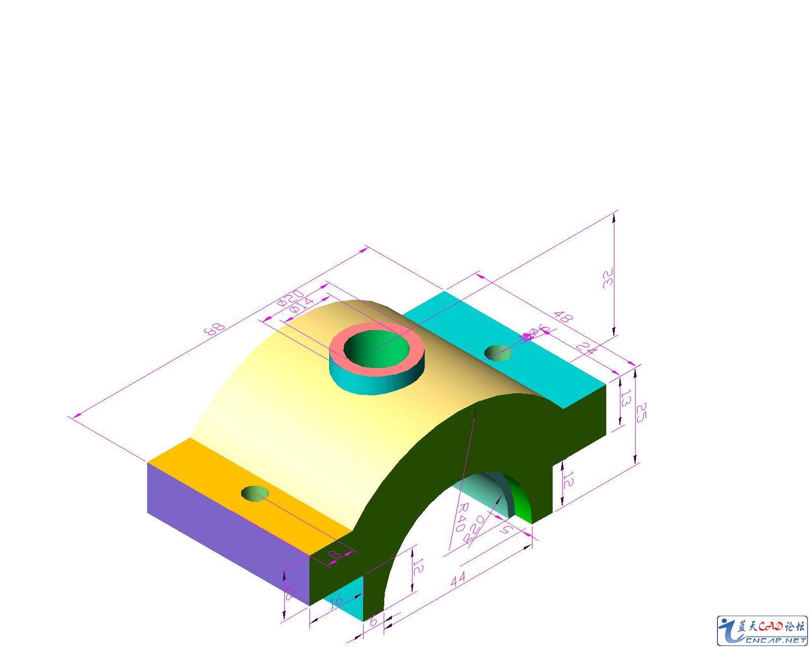CAD软件技术学习交流区怎么切割多余 这是我画的3D图,用CAD的,图片