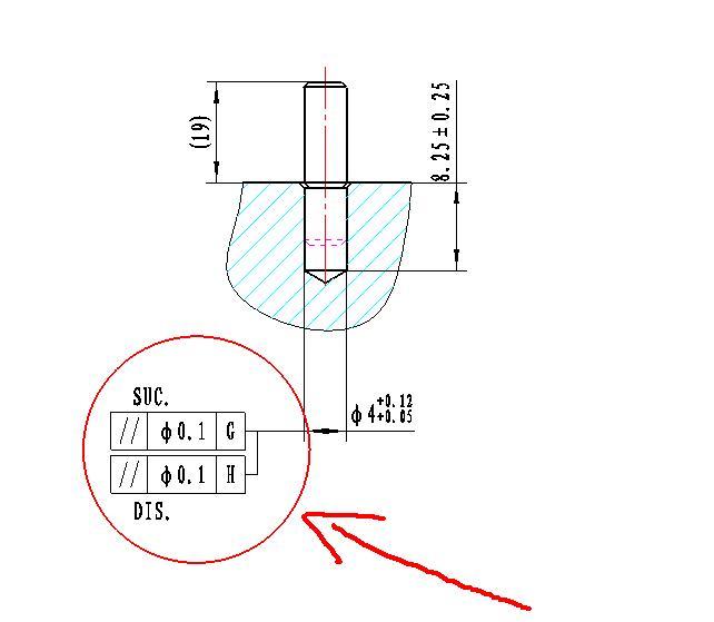 [v图纸]这张图的形位图纸标注有点电气。是张外公差意思108f6n--图片