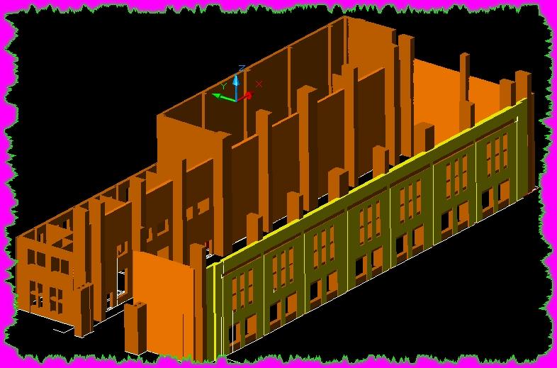 流区一个没画完的3D厂房图想v厂房一下CAD啊自己做气流炮图纸图片