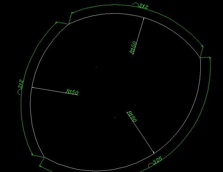 CAD软件技术v图纸交流区图纸弧组成的!谁有更后拉b50505050cad三个图片