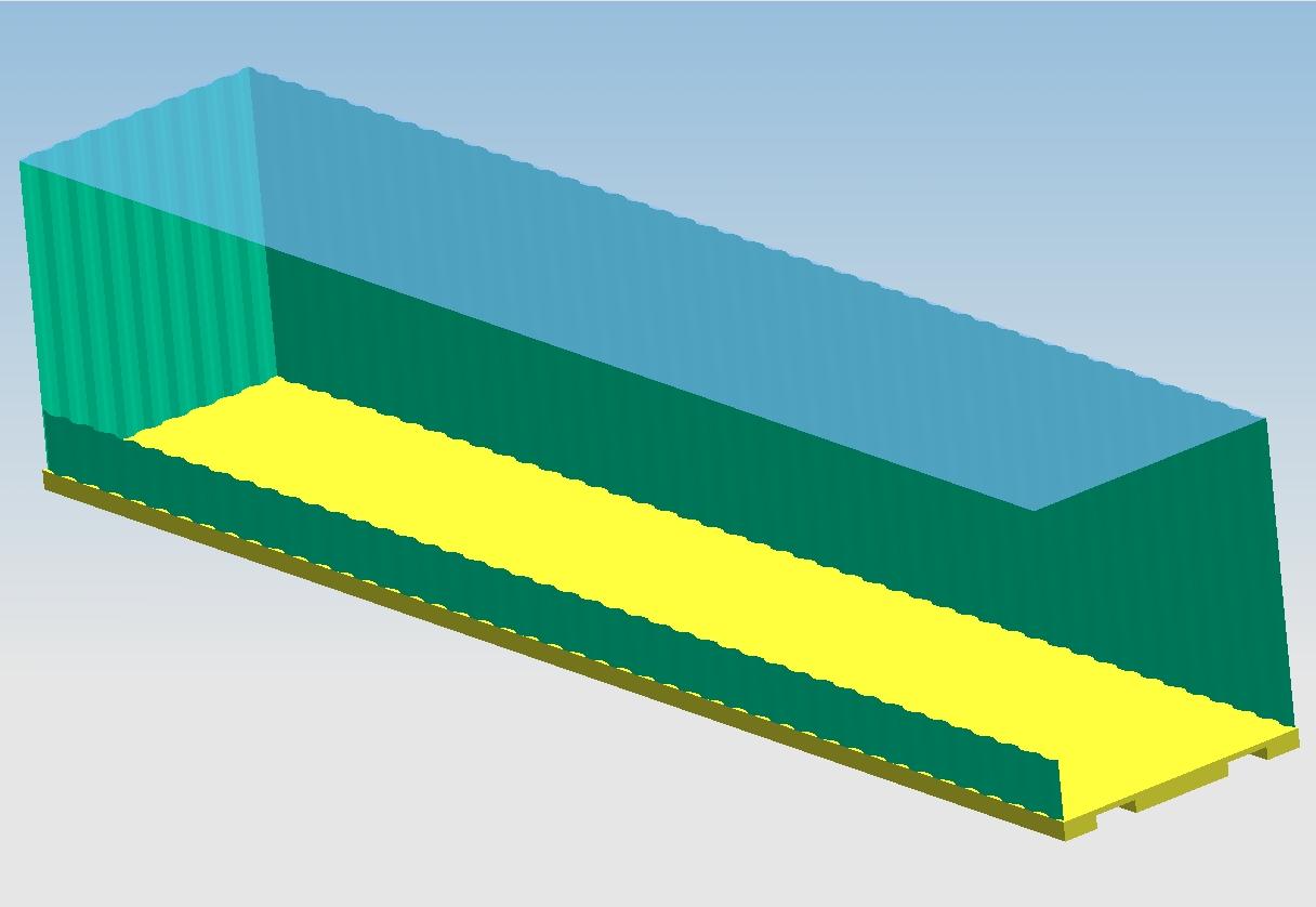 CAD软件技术v标准交流区1:1的40英尺标准高箱adotcad作品平面图图片