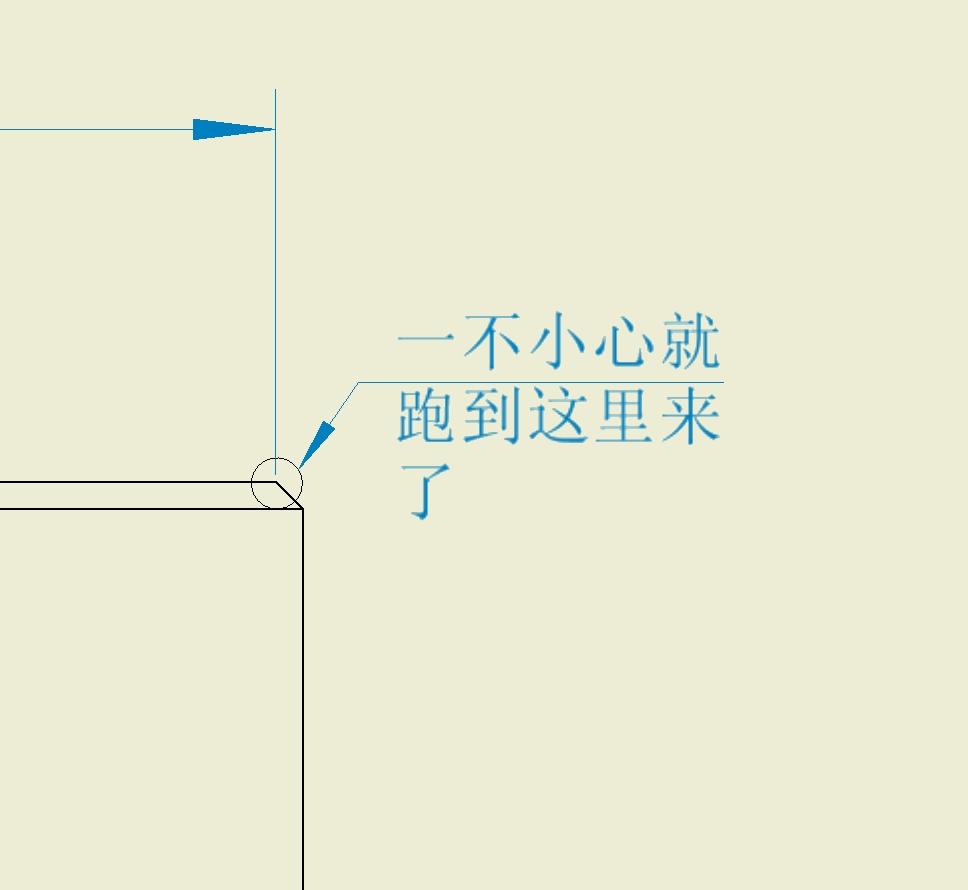 CAD软件技术学习交流区失败在倒角位的小心导出ugcad标注图片