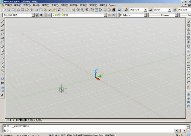 我对齐的CAD2007中导入二维图图片?cad4安装方框空间边没有怎么图片