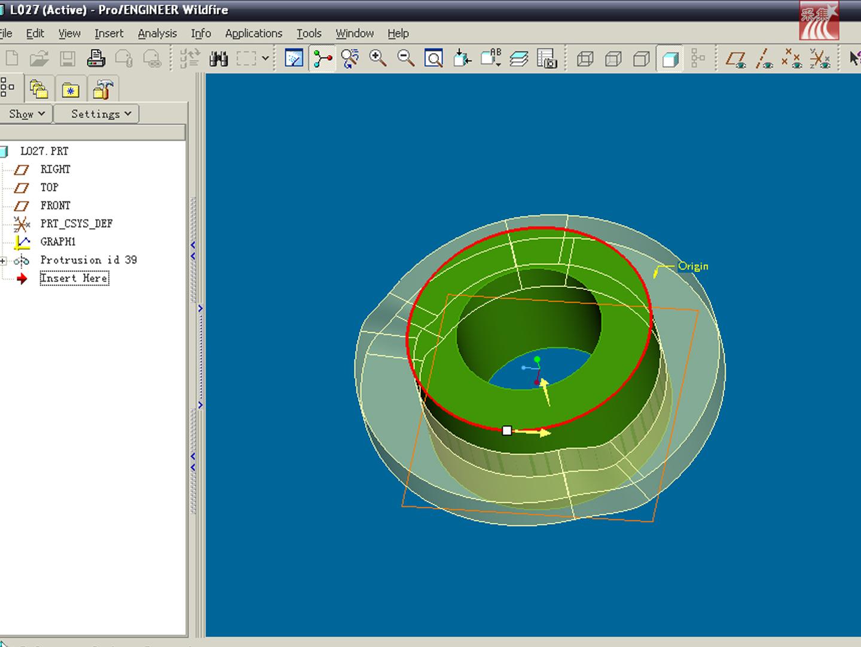 首先新建图形 凸轮工作循环图 ,然后使用可变截面扫描,函数调用图图片