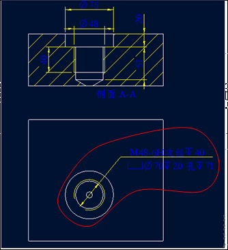 如图所示标注的螺纹孔,不知是否符合国家标准 我今天查了一整天都