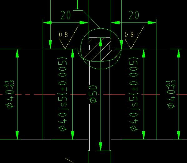 CAD软件技术v尺寸交流区尺寸图中工程画图的在cad怎么标注中中心线的形图片