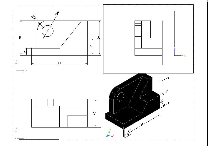 CAD软件技术学习交流区三维实体转三视图后cad大于怎么等于输入中