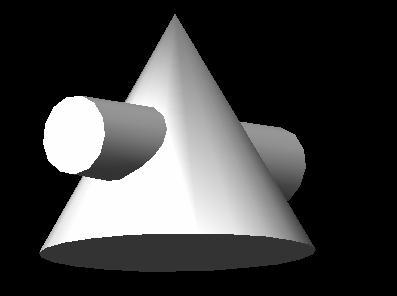 技术交流区关于圆锥体的新问题,圆柱穿圆锥体三视图上次有问到圆