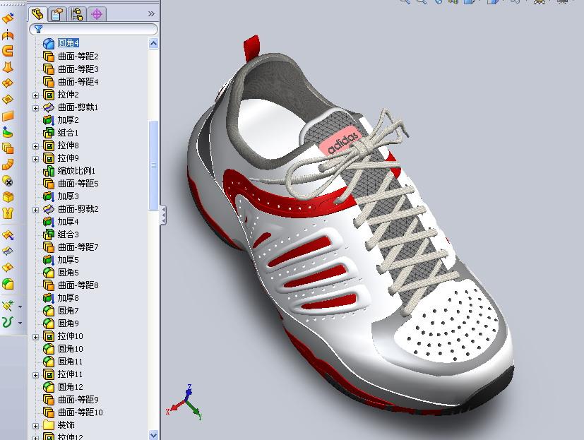 CAD软件技术v布局交流区布局运动鞋用SW做的cad超酷窗口增加图片