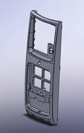 图纸主机机箱前面板角铁中心线电脑钢结构图纸图片