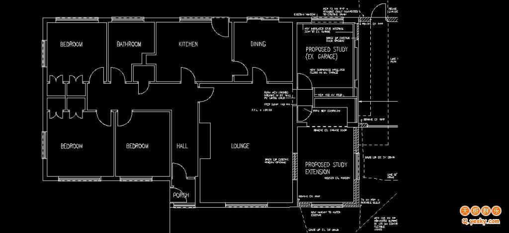 CAD软件技术施工交流区转换地砖扫描成CAD图纸学习图纸图片