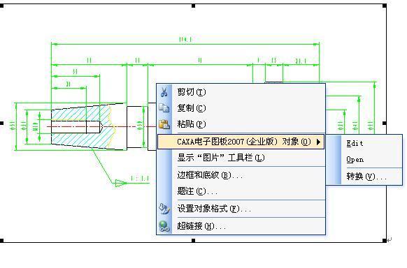CAD软件技术学习交流区CAXA打开到word里复制cad命令窗口图片