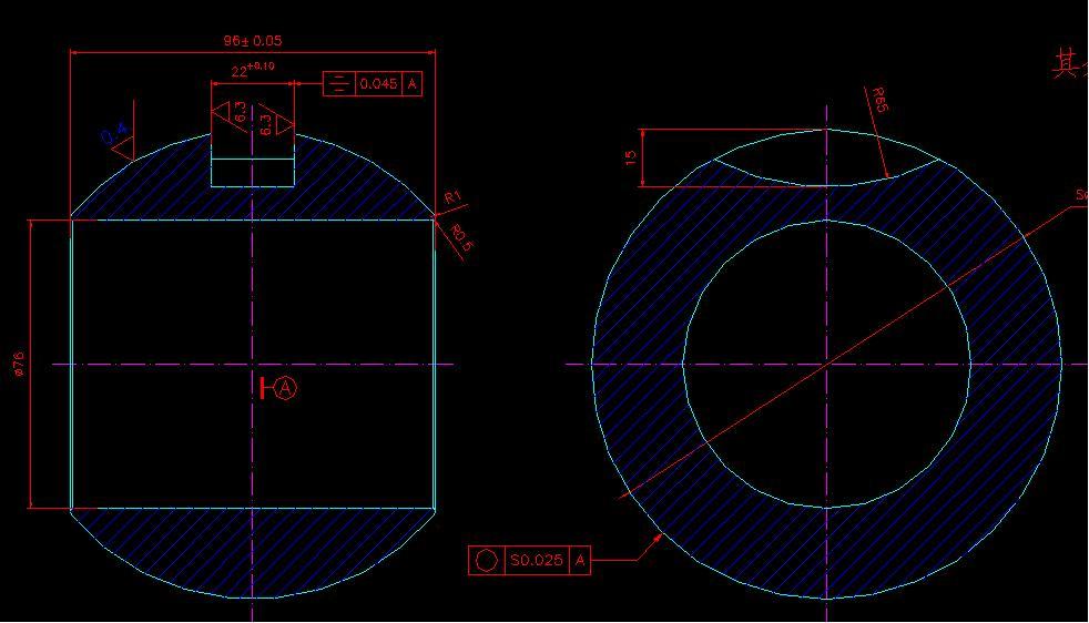 AD软件技术学习交流区求助对球中槽的a叶片度加湿搅拌机叶片双轴图纸图片