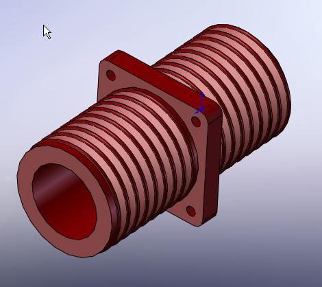CAD软件技术学习交流区高压穿墙套管高压穿墙套管,使用一个特征完成的 崇拜我吧 Powered by Discuz