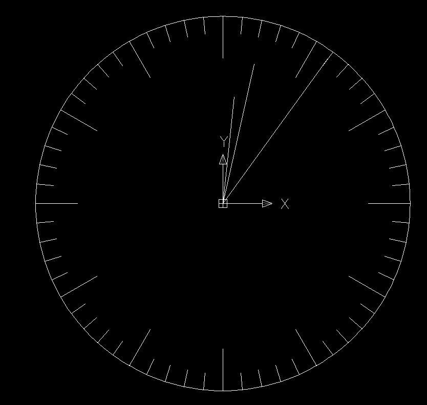 CAD软件技术v时钟交流区CAD里的时钟单位也指针图纸标注英文翻译图片