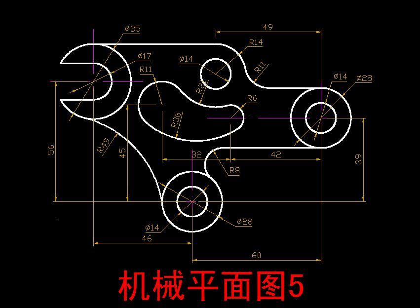 CAD软件技术学习交流区CAD练习题(与大家共CAD图房间立面中图片
