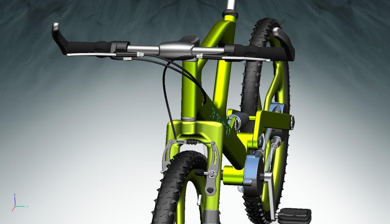 学习交流区新型液压传动自行车作品这是我们团队参加比赛的作品,图片