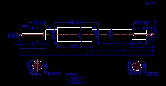 CAD软件技术考试交流区泵轴图纸带有合流供用于图纸学习的三通图片