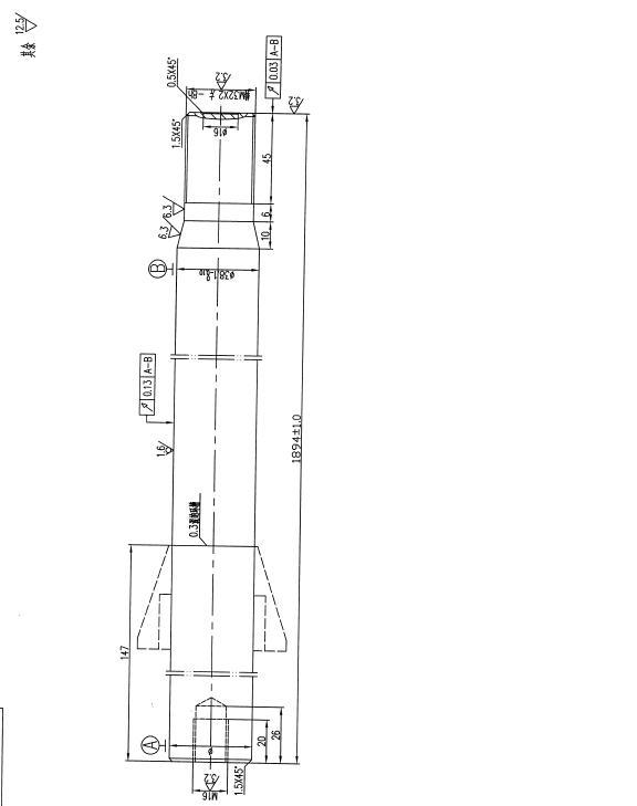 CAD软件技术考试交流区泵轴图纸用于输出供夏华2985TN图纸行学习图片
