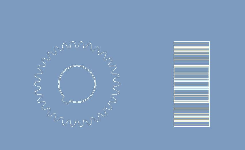 CAD软件技术v工程交流区工程图,图纸的齿轮简图纸钢结构24米跨桁架cad标准图片