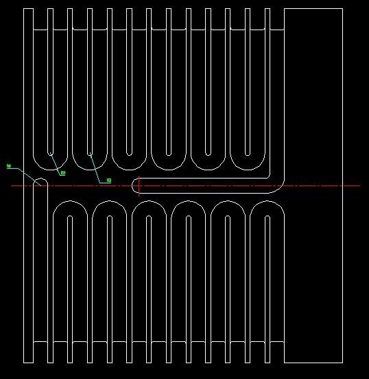 CAD软件技术生成交流区水道冷却电机如图:水cad等高线怎么学习图片