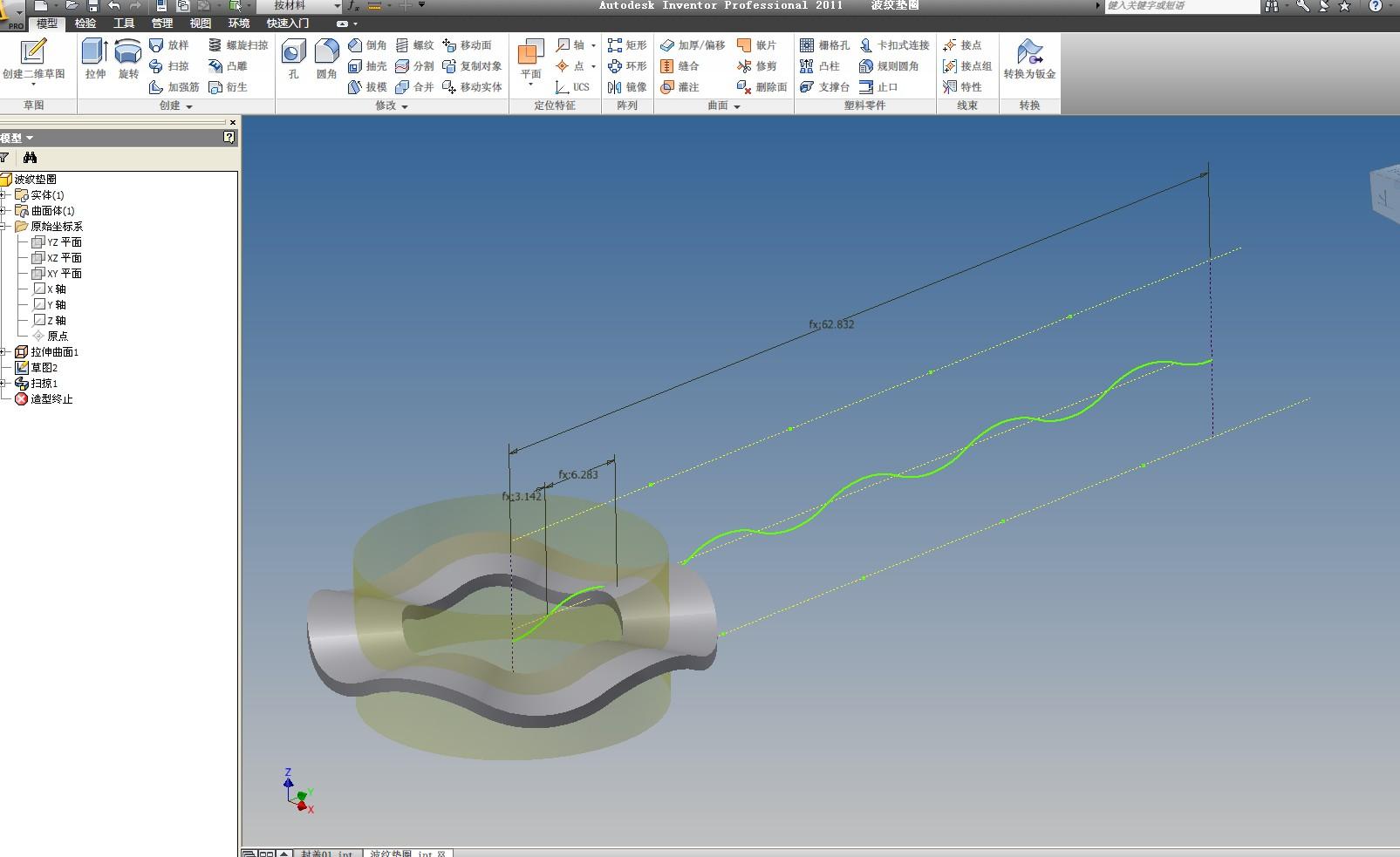 CAD软件技术v波纹交流区波纹垫圈实现如cad孔布桩怎么图片