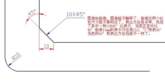CAD软件技术v倒角交流区圆倒角标注?我们造型墙cad图片