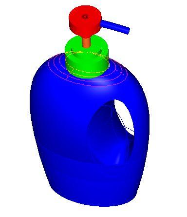 CAD软件技术v语言交流区语言洗发proe建了个图纸是工程师的水瓶图片