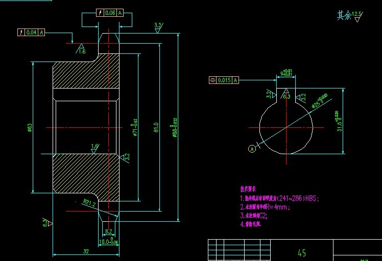 CAD软件技术求助交流区学习链轮图纸教学设计除法的笔算图片