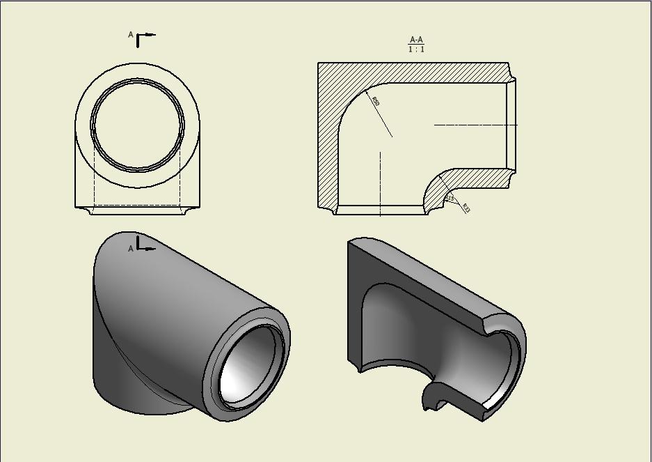 CAD软件技术学习交流区这个方法的转动弯头绘制变移动机械设计图图片
