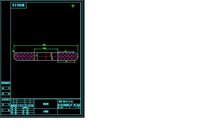 蝶阀DN300041X-1C全套CAD图纸上阀杆ssp.图纸图片