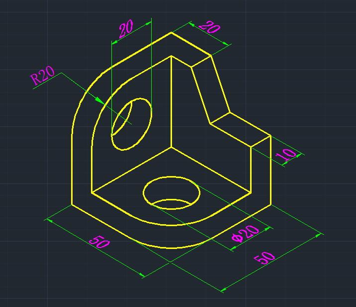 CAD软件技术求助交流区轴测图设置标注学习山师cad培训班图片