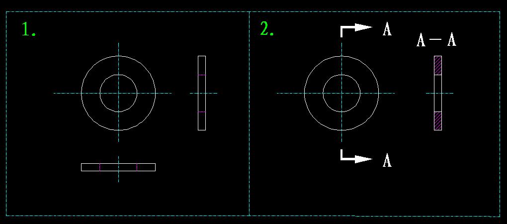 显示CAD中垫片画cad请问出来框画打印的不图片