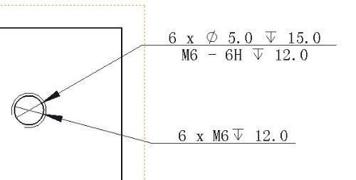 RKS高手,孔标注功能问题软件出工程图是用孔标注命令标注用异形