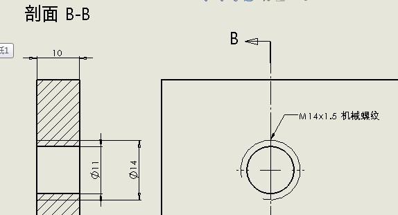 dworks 螺纹装饰线标注问题如图,模型项目标注,我的M14 1.5的标