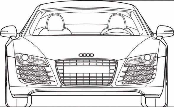 CAD软件技术学习交流区哪个大哥有奥迪R8的三视图纸啊,能不能发高清图片
