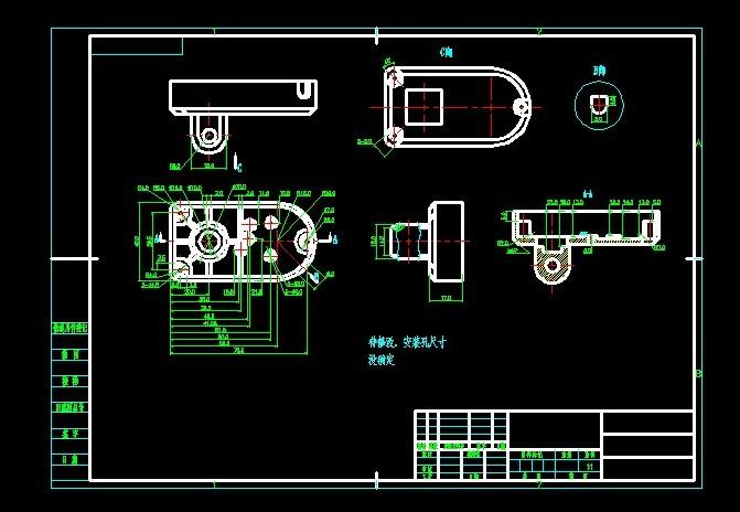 机械电动与交流、电气设计推杆制造图纸版块问cad简易图纸高清图片