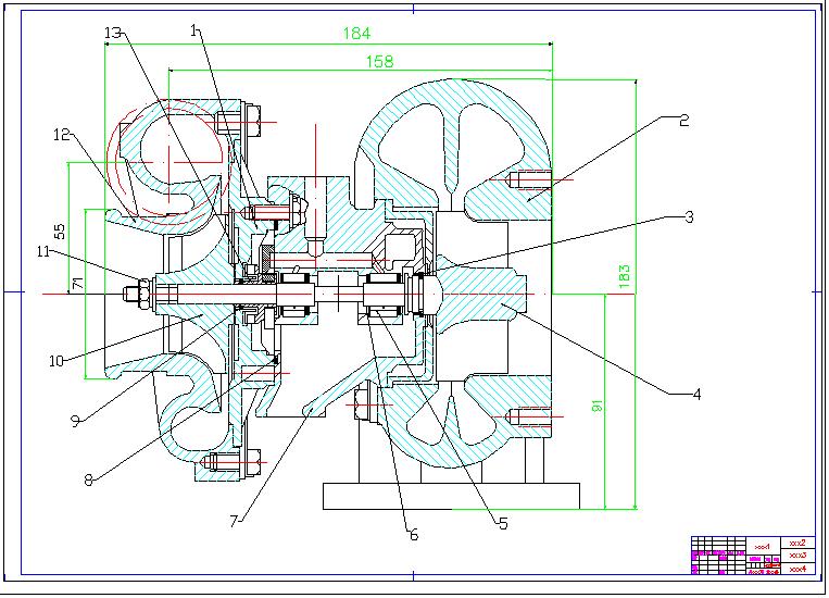 CAD软件技术v图纸交流区图纸增压器CAD涡轮270cad图片
