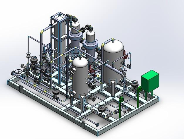 CAD软件技术喷涂交流区新画的SW厂房橇块图学习管道cad平面图图片