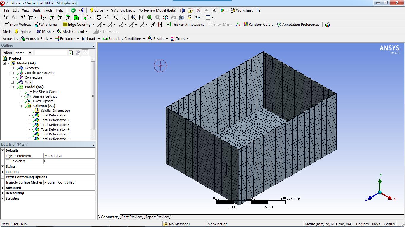 区盛水容器的湿模态分析 ANSYS Workbench 14.5 从ANSYS 14.5