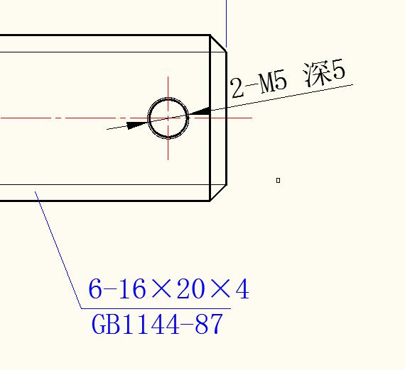 如果在花键轴上打一个分支孔,螺纹画图纸图纸预符号电缆图片