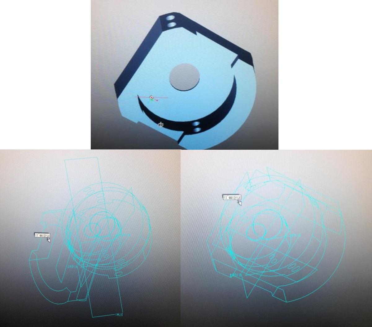CAD软件技术学习交流区proe不见异常proe显cad看显示模型图片