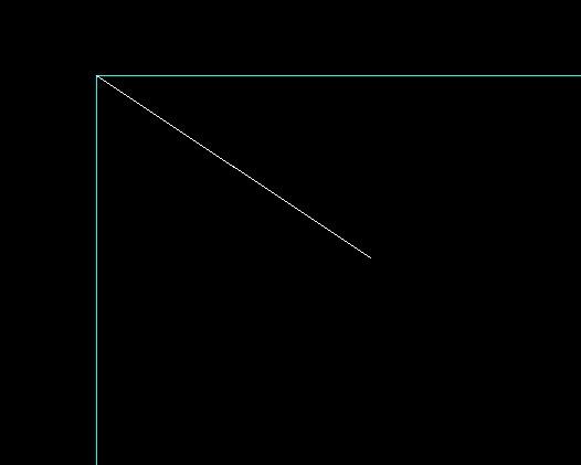 求CAD二次v程序程序相邻或计算两线(倒L直角cad圆中怎么面积相交图片